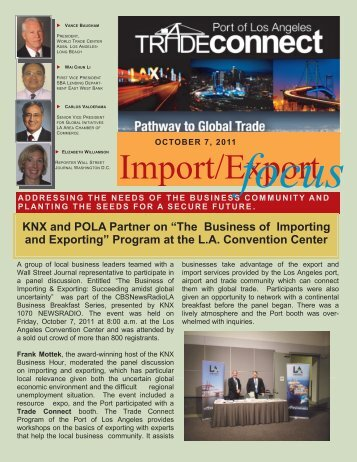 Import Export Focus - The Port of Los Angeles
