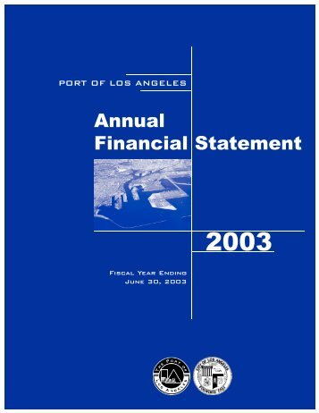 Annual Financial Statement - The Port of Los Angeles