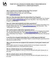 FAQs - The Port of Los Angeles
