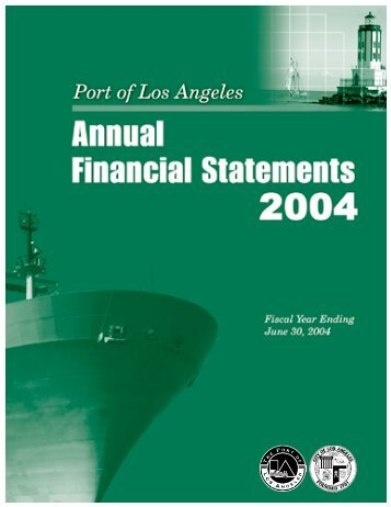 FY 2003-04 - Port of Los Angeles