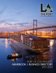 port of los angeles handbook & business directory 2011-2012