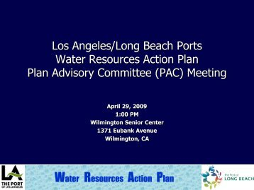 meeting presentation - Port of Los Angeles