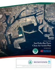 San Pedro Bay Ports Clean Air Action Plan - The Port of Los Angeles