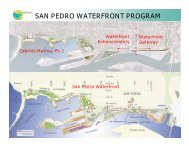 SAN PEDRO WATERFRONT PROGRAM - Port of Los Angeles