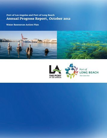 Annual Progress Report, October 2012 - The Port of Los Angeles
