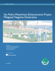 San Pedro Waterfront Enhancements Project Mitigated Negative ...
