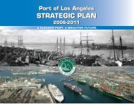 Strategic Plan Report front cover - The Port of Los Angeles