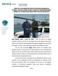 port of los angeles police officer shaquille o'neal stars in new public ...