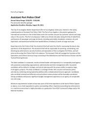 Assistant Port Police Chief - Port of Los Angeles