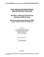 Final Mitigation Monitoring and Reporting Program (MMRP)
