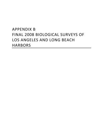 appendix b final 2008 biological surveys of los angeles and long ...