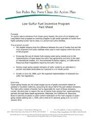Low-Sulfur Fuel Incentive Program Fact Sheet - The Port of Los ...
