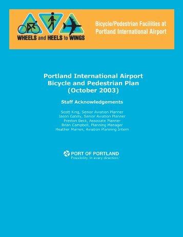 Portland International Airport Bicycle and Pedestrian Plan (October ...