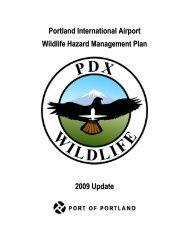 Portland International Airport Wildlife Hazard Management Plan ...
