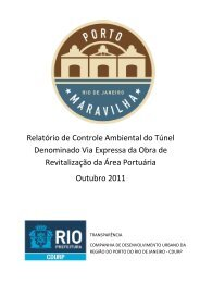 Relatório de Controle Ambiental do Túnel ... - Porto Maravilha