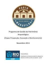 Programa de Gestão do Patrimônio Arqueológico ... - Porto Maravilha