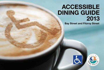 ACCESSIBLE DINING GUIDE 2013 - City of Port Phillip - Vic.gov.au