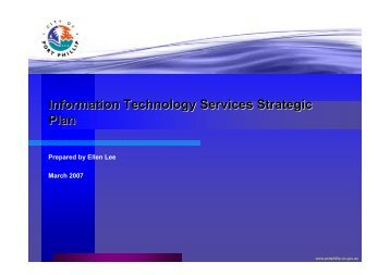 Information Technology Services Strategic Plan - City of Port Phillip