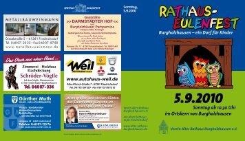 RATHAUS - Verein Altes Rathaus Burgholzhausen eV