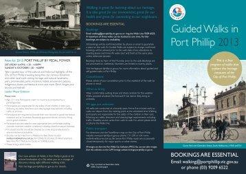 Guided Tour Program brochure - City of Port Phillip