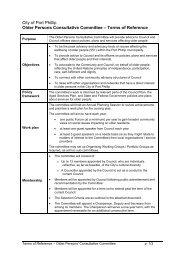 Attachment 1: Committee procedures - City of Port Phillip