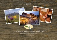 2010 1. Almwellness-Hotel Tuffbad - Download brochures from Austria