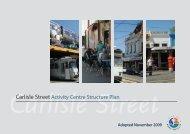 Carlisle Street Activity Centre Structure Plan - City of Port Phillip