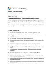 Guiding Principles and Strategic Directions - City of Port Phillip