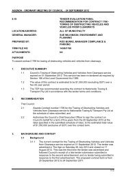 Tender Evaluation Panel Recommendation For - City of Port Phillip