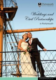 Weddings and civil partnerships brochure - Portsmouth City Council