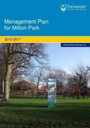 Management Plan for Milton Park - Portsmouth City Council