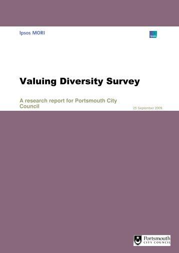 Valuing Diversity Survey - Portsmouth City Council