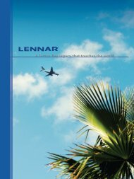 Lennar: A Tampa Bay legacy that touches the world.