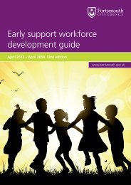 Early support workforce development guide - Portsmouth City Council
