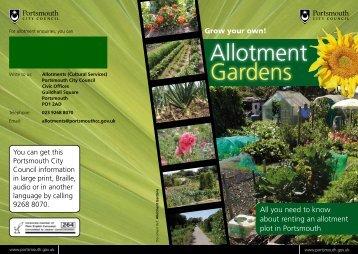 Allotment leaflet - Portsmouth City Council