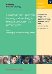 learning and teaching for bilingual children in the primary years