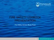 FIRE SAFETY LOG BOOK - Portsmouth City Council