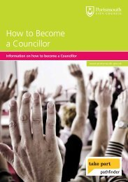 How to become a Councillor leaflet - Portsmouth City Council