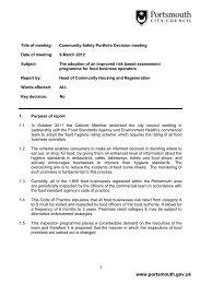 Item 3 - Portsmouth City Council