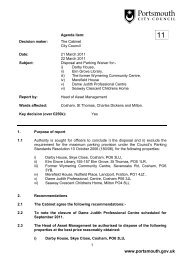 Item 11: Disposal and Parking Waivers for Darby - Portsmouth City ...