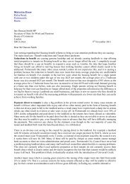 Mr Drew's letter to Iain Duncan Smith MP - Portsmouth City Council