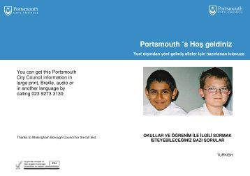 Portsmouth 'a Hoş geldiniz - Portsmouth City Council
