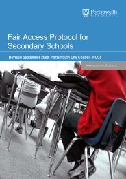 In Year Fair Access Protocol for Secondary Schools
