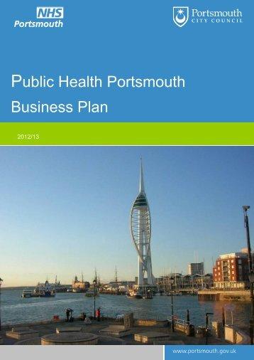 Public Health Portsmouth Business Plan 2012/13. Appendix 1.