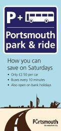 Park and ride leaflet - Portsmouth City Council