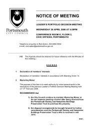 Agenda of 26 April 2006 - Portsmouth City Council