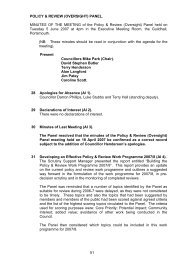 Minutes of 5 June 2007 - Portsmouth City Council