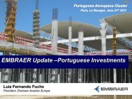 EMBRAER Update –Portuguese Investments - aicep Portugal Global