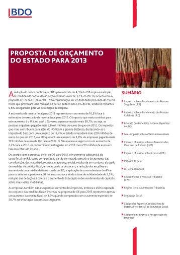 OE para 2013 - aicep Portugal Global