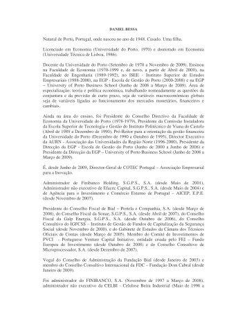 CV - Prof. Daniel Bessa - aicep Portugal Global